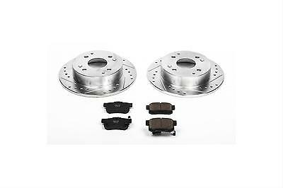 Power Stop Brake Rotors/Pads Cross-Drilled/Slotted Kit K1244