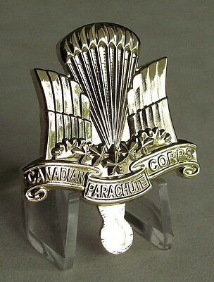 Canada Army NCO Canadian Parachute Corps Hat badge Gold Plated WWII Reproduction