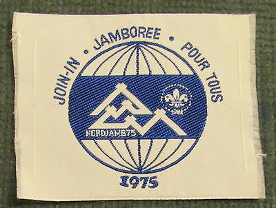 1975 14th XIV World Jamboree Join In Pour Tous Woven Silk Patch MINT! Jambo Jam