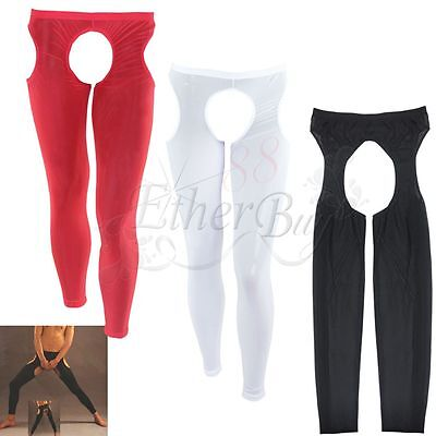 Men's Sexy Lingerie Underwear Mesh Pants Male Backless Thongs Crotchless Clothes