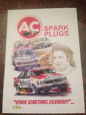 AC Spark Plugs Bathurst Winner Peter Brock Signed Print