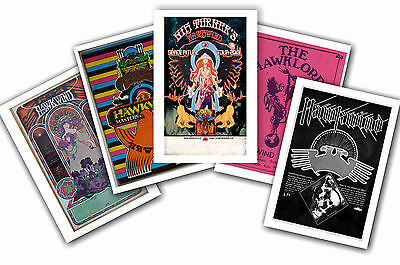 Hawkwind - Set Of 5 - A4 Poster Prints # 1