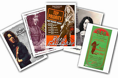 Rory Gallagher - Set Of 5 - A4 Poster Prints # 1