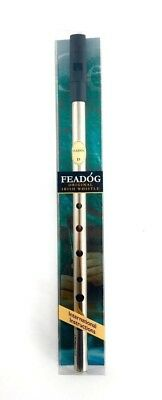 Feadog Nickel D Irish Tin Penny Whistle in Gift Box Pack