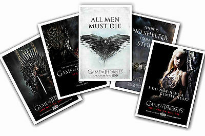 Game Of Thrones - Set Of 5 - A4 Poster Prints # 3