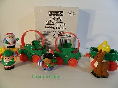 Fisher Price Little People Holiday Parade Christmas Santa Train Set NEW