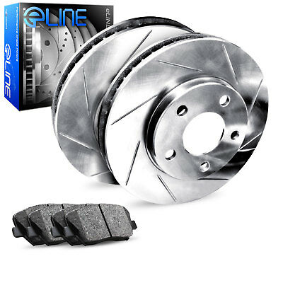 FITS 2005 2006 DODGE MAGNUM RWD SLOTTED Brake Rotors Ceramic SLV Brake System Brake Kits