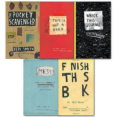 Keri Smith Wreck this Journal Collection 5 Books(Finish this book, This is not a
