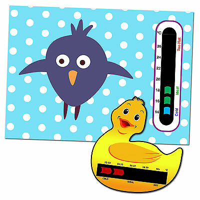 Baby Safe Ideas Bird Nursery Room Thermometer and Duck Bath Thermometer
