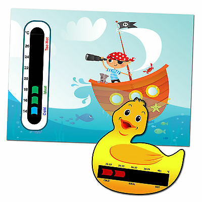 Baby Safe Ideas Pirate Nursery Room Thermometer and Duck Bath Thermometer