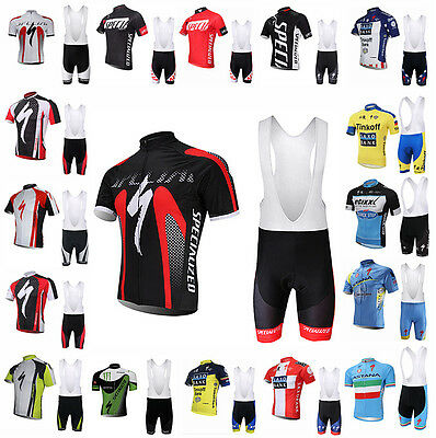 Sport Cycling Jersey Bib Short Pants Trouser Set Bike Clothing Bicycle Wear Suit