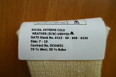 NEW - MoD Army Issue Extreme Cold Weather ECW Arctic Socks UK Size 7-10