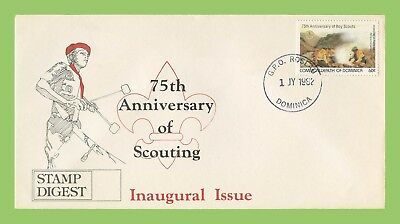 Dominica 1982 75th Scouting Anniversary Stamp Digest cover