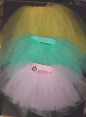 NWT ROMANTIC MIDLENGTH tutu child/adult 4 colors 4 layers tulle chiffon softskrt