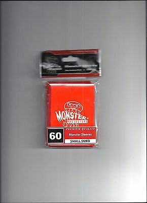Monster Protector Sleeves ORANGE Gloss 60 Small Sized PREMIUM QUALITY Yugioh