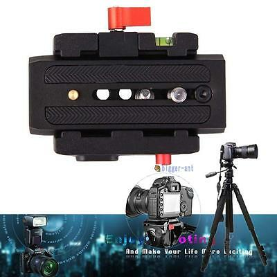 Clamp& Quick Release QR Plate For Tripod Ball Head Manfrotto 501 500AH 701HDV BA