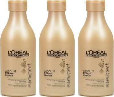 3x Loreal Serie Expert Absolut Repair Lipidium Shampoo  - 250ml