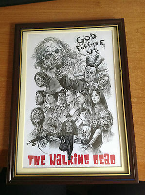The Walking Dead A4 Print Framed - New Choose from Stlyes
