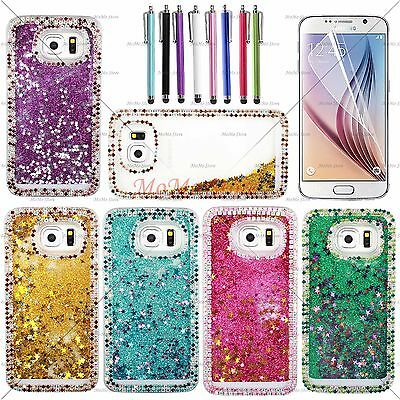 Transparent Liquid Quicksand Glitter Falling Star Case for galaxy S6 and Edge