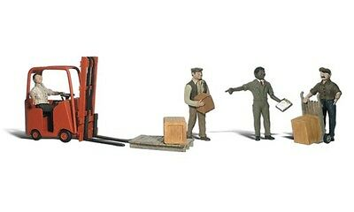 Woodland Scenics A2192 N Train Figures Workers w/Forklift