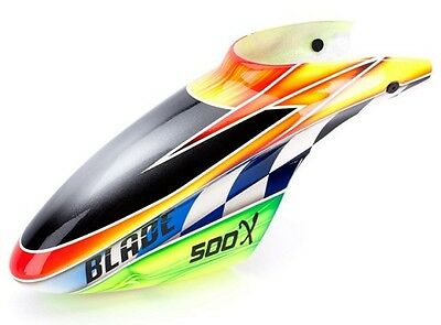 Blade 500 Fiberglass Canopy Orange/ Green BLH4081B