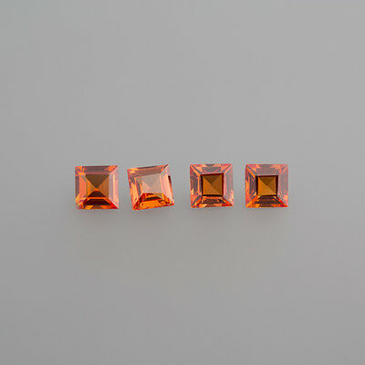 Synthetisch Padparadscha 4 x4 mm Carreé / (71.50)