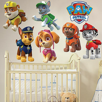 PAW PATROL Kids Boy Girls Bedroom Decal Wall Art Sticker Gift Window New