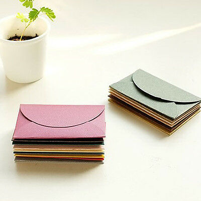 Nice 12 Pcs Pearlescent Paper Mini Envelope Vintage Fashion Craft Creative Hot