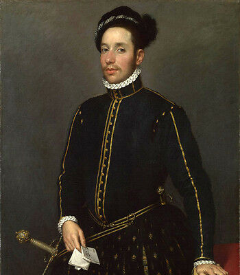 Oil painting Portrait of a Left-Handed Gentleman with Two Quartos and a Letter