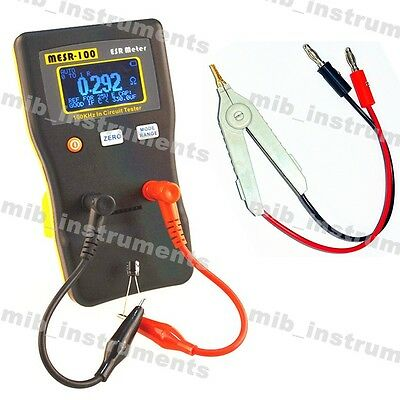 Youtube Reviewed MESR-100 ESR Low Ohm In Circuit Capacitor Meter +SMD Clip Probe