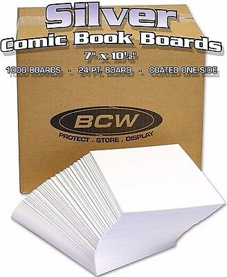 1000 Bulk Silver Age Comic Book Backing Boards - NEW -  BCW