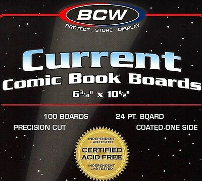 500 Current Comic Backing Boards - NEW BCW