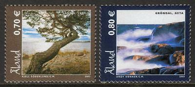 Aland Mnh 2005 Sg271-272 Landscapes Set Of 2
