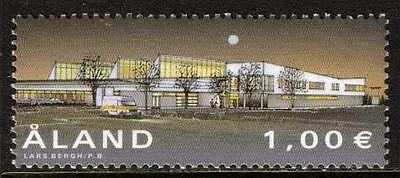 Aland Mnh 2002 Sg216 Inauguration Of New Post Terminal, Sviby