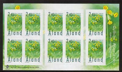 Aland Mnh 1999 Sg152 Provincial Plant Of Aland Sheetlet Of 10