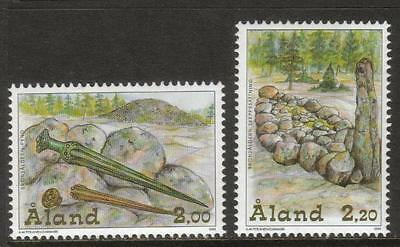 Aland Mnh 1999 Sg145-146 Bronze Age Relics Set Of 2
