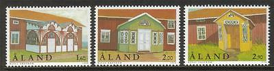 Aland Mnh 1998 Sg141-143 Entrance Porches Set Of 3