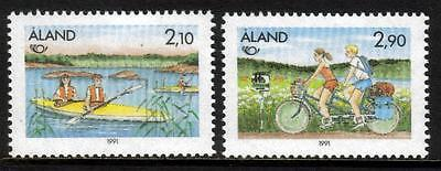 Aland Mnh 1991 Sg50-51 Nordic Countries Postal Cooperation - Tourism Set Of 2