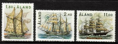 Aland Mnh 1988 Sg32-34 Sailing Ships Set Of 3