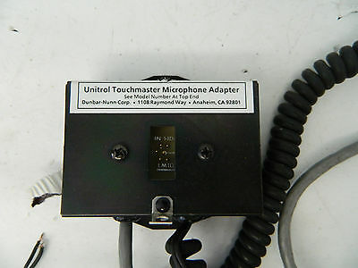 Unitrol Touchmaster Microphone Adapter LM10