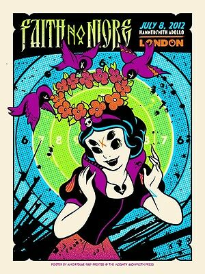 FAITH NO MORE poster London 2012 Justin Kamerer NEW
