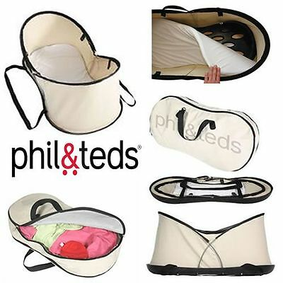Phil&Teds Nest Portable Bassinet and Travel Bag Beige Brand New! Free Shipping!