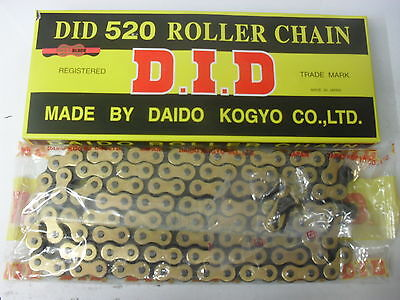 Did 520 Black And Gold Chain 120L