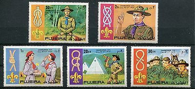 Fujeira 1971 Boy Scout Knot-Tying World Jamboree Set Of 5 Stamps Complete!