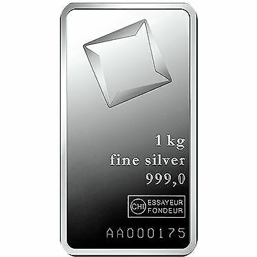 1 Kilo Valcambi Silver Bar - Glossy .999 fine (New w/ Assay)