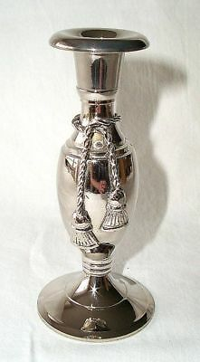 G9: Silver Candle Holder Candlestick Candle holders with elegant Cord decoration