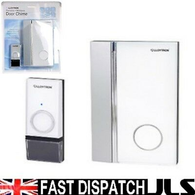 Wireless Door Bell Chime STROBE LIGHT Cordless Portable includes batteries