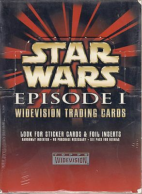Star Wars Episode 1 Series 1 Widevision Retail 1999 Topps Trading Card Box Of 36