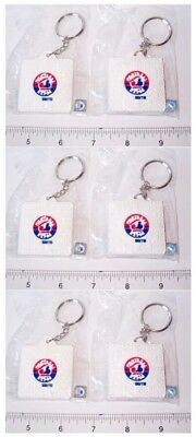 Set of 6 Schutt MLB Montreal Expos Logo Base Key Chains Keychains