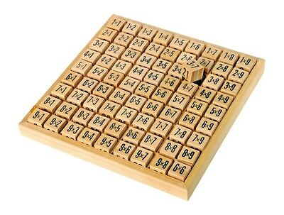 Wooden First Times Tables Multiplication Maths Mathematics Educational Toy